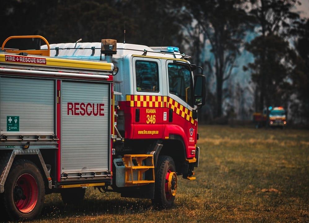 Bushfire fighting trucks