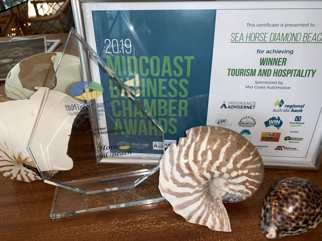 Sea Horse Diamond Beach Tourism Award winners