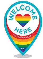 LGBTIQ Welcome Here logo