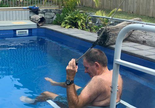 Accessible pool hoist at Seafarers Diamond Beach